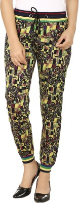 Fashion Cult Stylish Make Printed Women's Yellow, Black Track Pants
