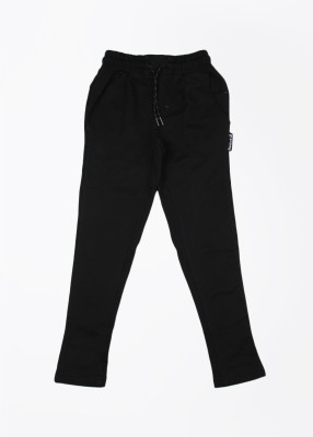 Reebok Solid Boy's Black Track Pants