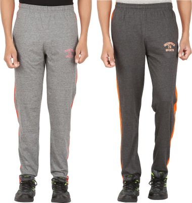 Greenwich Solid Men's Brown Track Pants