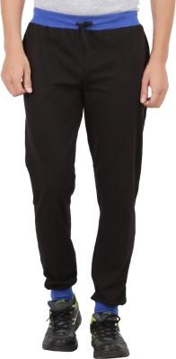 Checker S Bay Solid Men's Black Track Pants