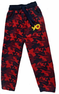 Gen Self Design Boy's Red Track Pants