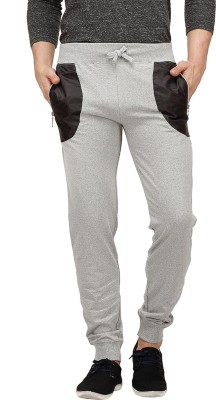 Campus Sutra Solid Men's Grey Track Pants