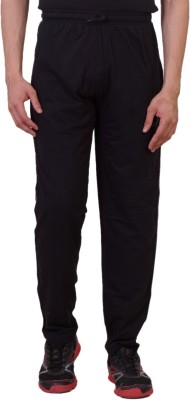 Tab 91 Men's Lower Solid Men's Black Track Pants