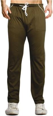 Smart Look 7 Solid Men's Green Track Pants