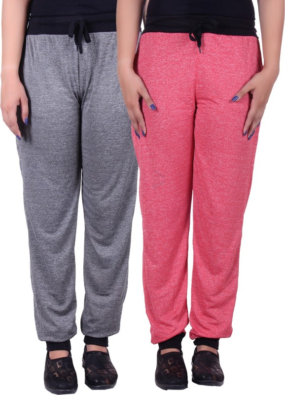 Gag Wear Solid Women's Red, Grey Track Pants