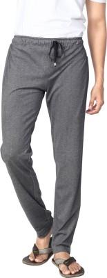 AVOQ-Style Reboot Solid Men's Black Track Pants