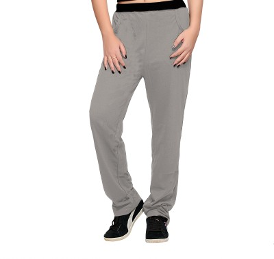 Towngirl Grey Solid Women's Grey Track Pants