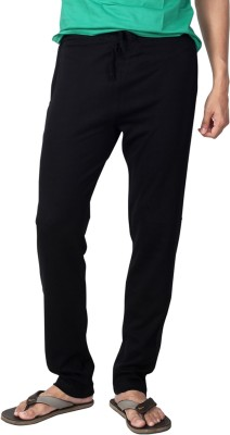 Allocate Solid Men,s Black Track Pants