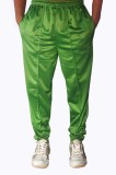 Dyed Colors Solid Men's Green Track Pant...