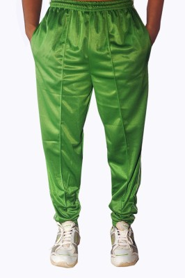 Dyed Colors Solid Men's Green Track Pants