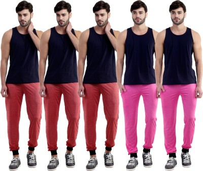 Dee Mannequin Self Design Men's Red, Red, Red, Pink, Pink Track Pants