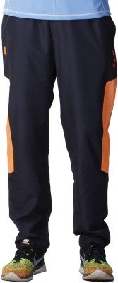 Atheno Solid Men's Black, Orange Track Pants