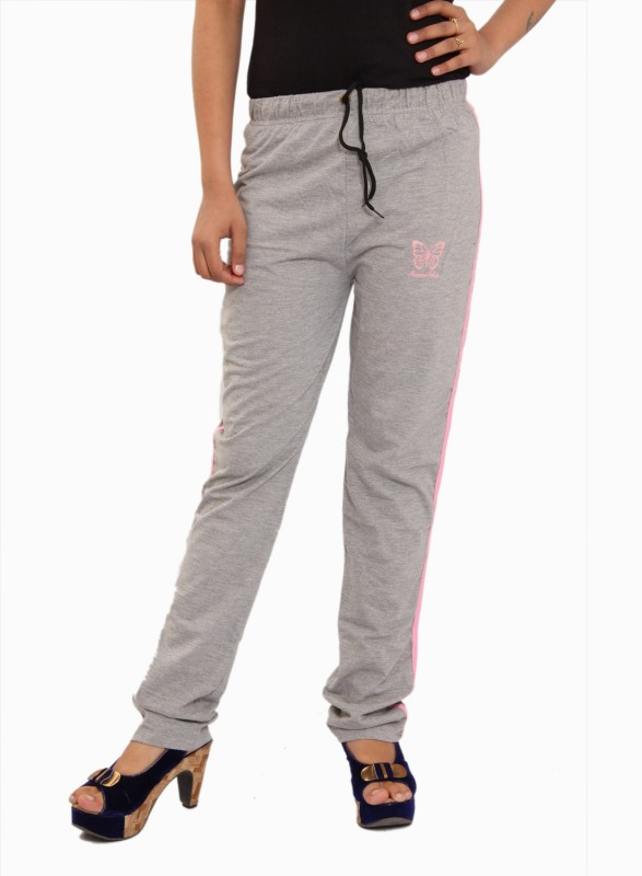 JT International Solid Women's Grey Track Pants