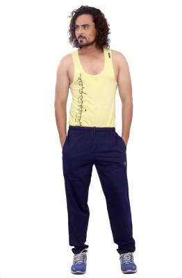 Mountain Colours Self Design Men's Blue Track Pants