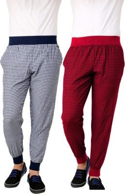 Lemon & Vodka Jogger Striped Men's Blue, Red Track Pants