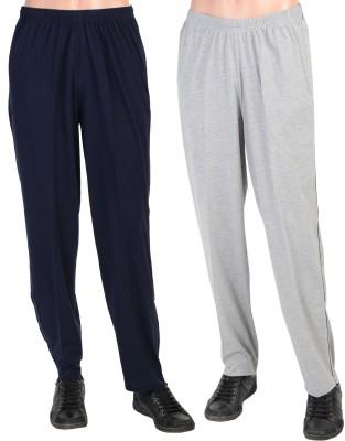 Gazelle Solid Men's Blue, Grey Track Pants