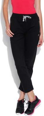 Duke Stardust Solid Women,s Black Track Pants