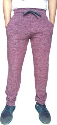 Fizzique Solid Men's Red Track Pants