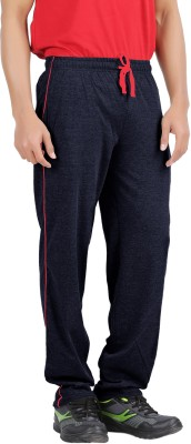 Hbhwear Solid Men's Dark Blue Track Pants