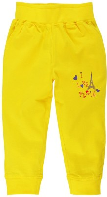 Oye Printed Girl's Yellow Track Pants
