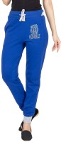 Campus Sutra Printed Women's Dark Blue Track Pants