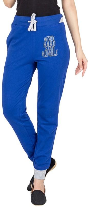 Campus Sutra Printed Women's Dark Blue Track Pants