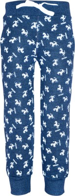 Gee & Bee Printed Baby Boys Dark Blue Track Pants