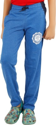 BIKER BOYS Solid Boy's Blue Track Pants