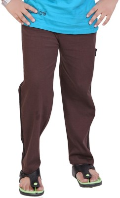 Mint Solid Boy's Brown Track Pants