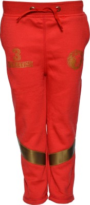 Vinenzia Solid Boy's Red Track Pants