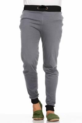 Demokrazy Solid Men's Grey Track Pants