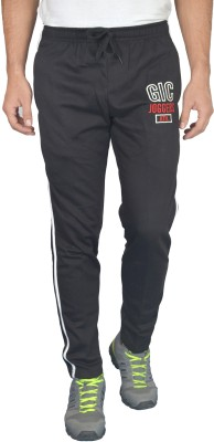 Griffel Solid Men's Black Track Pants