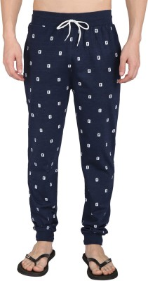 Illicit Nation Printed Men's Light Blue Track Pants