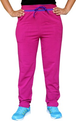Pepe Rosso Solid Women's Pink Track Pants