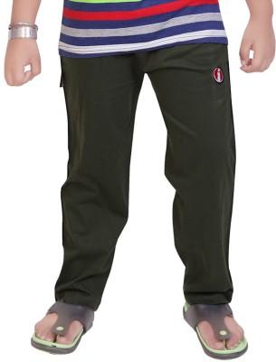 Mint Solid Boy's Green Track Pants