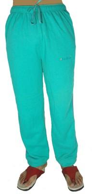 Bluedge Fashion Solid Women,s Light Green Track Pants
