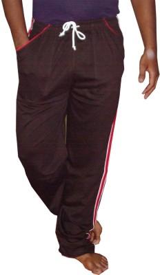 WellFitLook Solid Mens Brown Track Pants