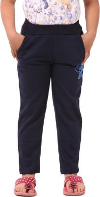 Vostro Moda Printed Girl's Blue Track Pants