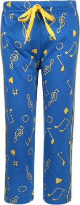 Sweet Angel Printed Boy's Blue Track Pants