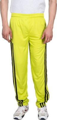 Xplore Yellow Solid Solid Men's Yellow Track Pants