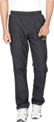 Attro Solid Men's Black Track Pants