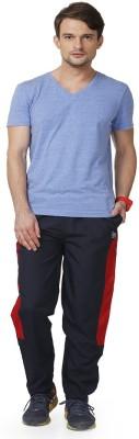 ABLOOM Self Design Men's Light Blue Track Pants