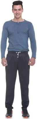 FREE RUNNER Striped Men's Black Track Pants