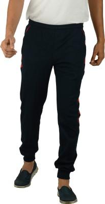 Kanter Solid Men's Dark Blue, Red Track Pants