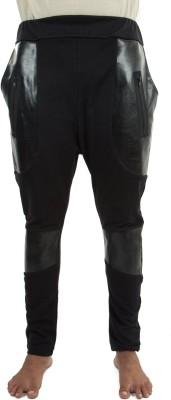 Liash Solid Men's Black Track Pants