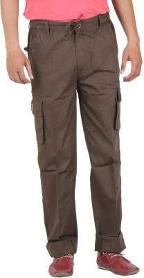 Sapper Solid Men's Brown Track Pants