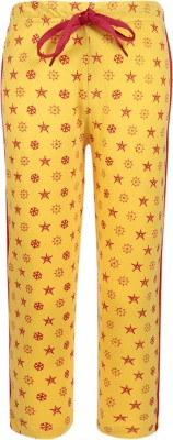 Sweet Angel Printed Boy's Yellow Track Pants