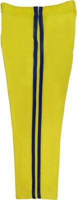 Sweet Angel Self Design Boy's Yellow Track Pants