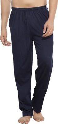 AJC Solid Men's Dark Blue Track Pants