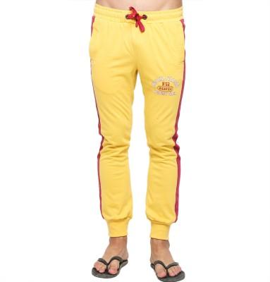 American Swan Solid Men's Yellow Track Pants